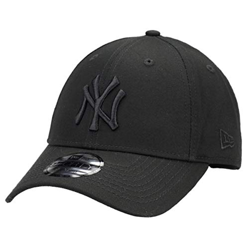 New Era 9Forty Unisex Damen Herren MLB League Essential/Brand Logo 940 Adjustable Cap Strapback Cap Baseball Cap mit 7kmh Aufkleber, OSFM, 1 NY Schwarz 3331