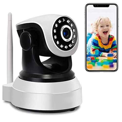 Cámara IP de Interior Monitor de bebé HD 1080P Cámara WiFi Interior de vigilancia Audio Bidireccional PTZ Pan355°/Tilt90° Visión Nocturna Detección de Movimiento Notificación de inserción 【Cámara+32G】