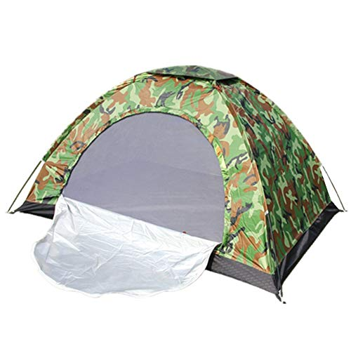 Reeamy-Home Travel Tent Camouflage Single Soldier With Screen Door Anti-mosquito Camping Fishing Tent (Color : Camouflage, Size : 1 people)
