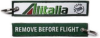 【 メール便発送 】 アリタリア イタリア航空 Alitalia REMOVE BEFORE FLIGHT キーチェーン キーホルダー タグ