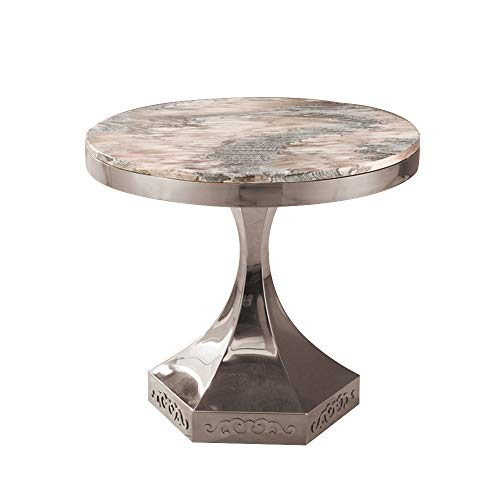 tafels DD marmer eettafel, roestvrij staal hoek, ronde casual koffie tafel, hotel ronde tafel -werkbank