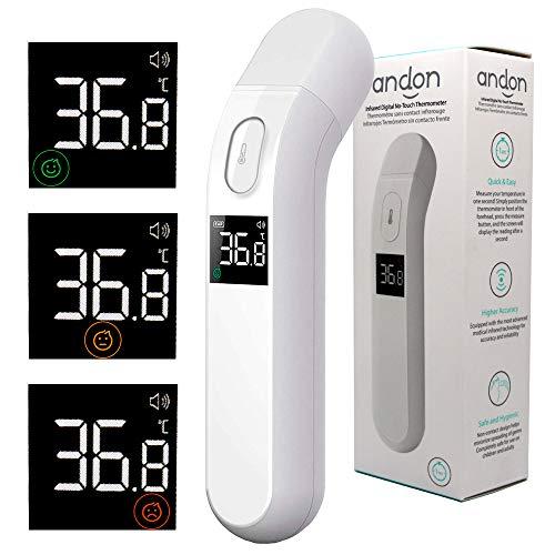 Termómetro Digital Clínico Infrarrojos iHealth PT2L Blanco (Tiempo Medición 1 Segundo, Apto Para Adultos, Niños y Bebes)