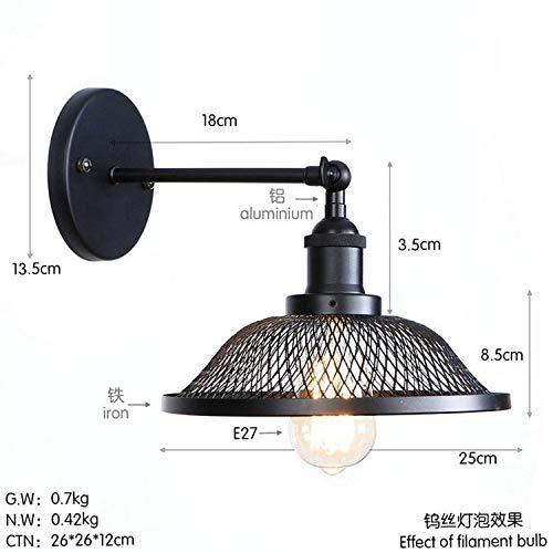 Mao&Long Lampe murale en métal simple/pays/rétro balançoire 110-240V 40W, G