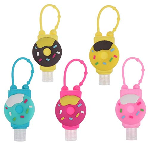 7thLake 5 Stück 30ml Tragbare Reiseflaschen Set Cartoon Nachfüllbare Leere Flasche & Behälter für Handwaschflüssigkeit, Shampoo, Toilettenartikel, Duschgel Reise Zubehör für Kinder