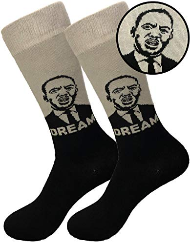 Balanced Co. Martin Luther King Jr Dress Socks MLK Socks Dream Socks Casual Cotton Socks