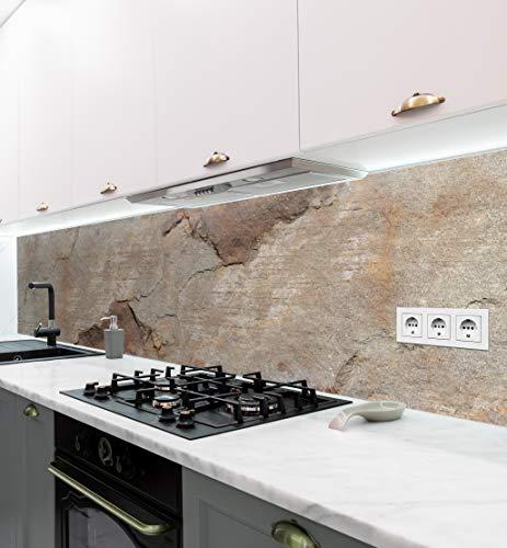 MyMaxxi   selbstklebende Küchenrückwand Folie ohne bohren   Aufkleber Motiv Mauer 03   60cm hoch   adhesive kitchen wall design   Wandtattoo Wandbild Küche   Wand-Deko   Wandgestaltung