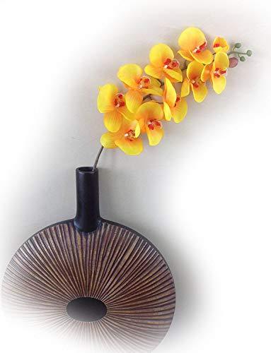 Orchideeentweig 107 cm XXL oranje zijden bloemen kunstbloemen kunstmatige orchidee als echt