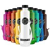Craft colors® hochwertige Acrylfarben - Set 10 x 750ml (XL) deckende Malfarbe   Made in Germany   geeignet für Acryl Pouring   schnell trocknend   hohe Pigmentierung
