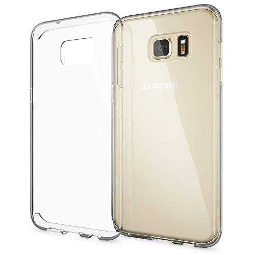 NALIA Handyhülle kompatibel mit Samsung Galaxy S7 Edge, Slim Silikon Motiv Case Hülle Cover Crystal Schutzhülle Dünn Durchsichtig, Etui Handy-Tasche Schale Back-Cover Smart-Phone Bumper - Transparent