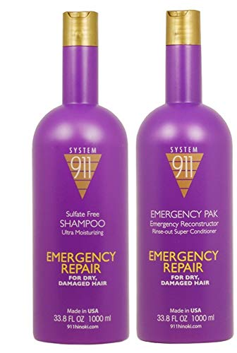 Hayashi 911 Shampoo, 1000 Ml and 911 Emergency Pack, 1000 Ml Combo Package