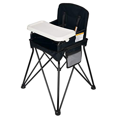 VEEYOO Baby High Chair for Eating, Space Saver High Chair, Portable for Indoor and Outdoor, Compact Fold, for 6-36 Months - up 37 Pounds, Black