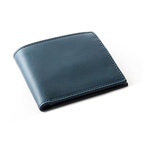 [Boosters] ブースターズ 二つ折り財布 小銭入れ付き 財布 薄型 本革 カード メンズ ダークブルー
