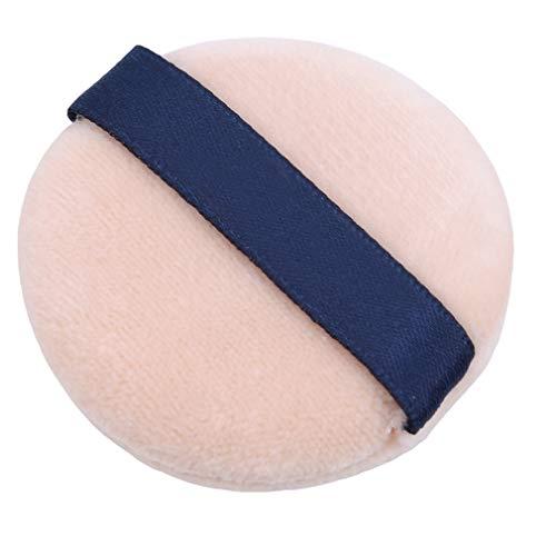 CAVIVIUK Puffs de Poudre de Coton Ronde Grande Taille avec Sangle Maquillage Puff en Poudre lâche pour Le Corps du Visage,7,5 cm