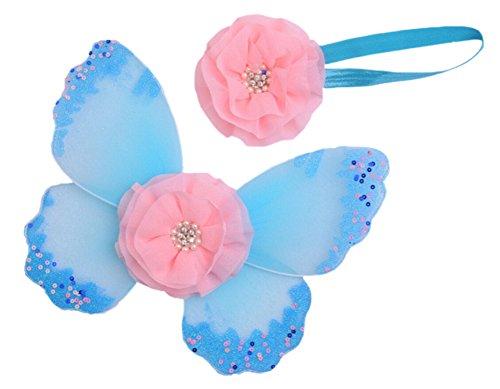 DATO Babyfotografie Vêtements 1 Set Ailes de Papillon + Serre-tête