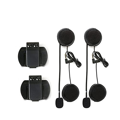 ZHANGFANGPING 2 unids EJEAS V6 Pro Accesorios Auriculares Altavoz Micrófono Clip VNetphone V4 / V6 Casco de Motocicleta Bluetooth Intercom 3.5mm Port