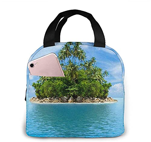 Underwater Coral Reef Seabed Lunch Bag Tote Bag Lunch Box Insulated Lunch Container for Woman Man