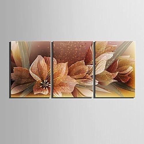 Xuanku E-Home Toile Peinture Art Décoration Fleurs Lot De 3
