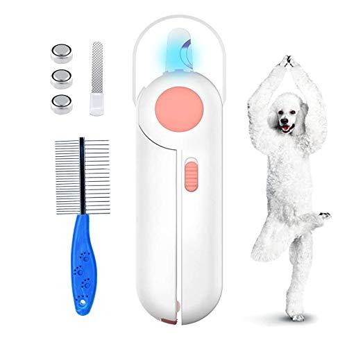 Tagliaunghie per cani Tagliaunghie per animali domestici con luce LED, Tagliaunghie per gatti, Tagliaunghie per gatti con indicatore della linea di sangue - Forbici per artigli per cani Gatti Conigli…