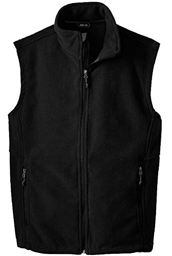 Joe's USA Men's Soft and Cozy Fleece Vest-XL-Black