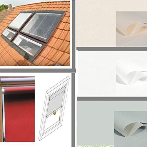generisch Thermo-Sichtschutz-Rollo für BRAAS Atelier_Fenster_BA/DA, Bauj.1991-2000_PERLEX_Farbe Weiss (100/120 Glasmaß 92,0x99,0 cm)