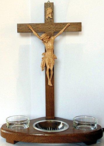 Christshop Standkreuz - Kleiner Hausaltar aus Eiche dunkel