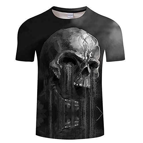 T Shirt Flowing 3D Skull T Shirt Men T-Shirt Summer Tshirt Tees Funny Tops Streatwear Short Sleeve Asianxl Tx550