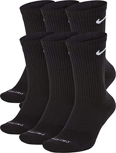 Nike Men's Everyday Plus Cushion Crew Socks (Medium, Black/White)