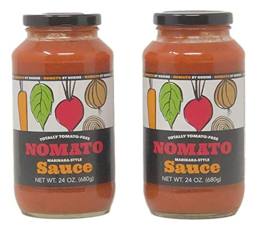 Nomato- The Original Tomato Free Marinara Sauce - Pasta Sauce Pack of 2 (24 oz) jars