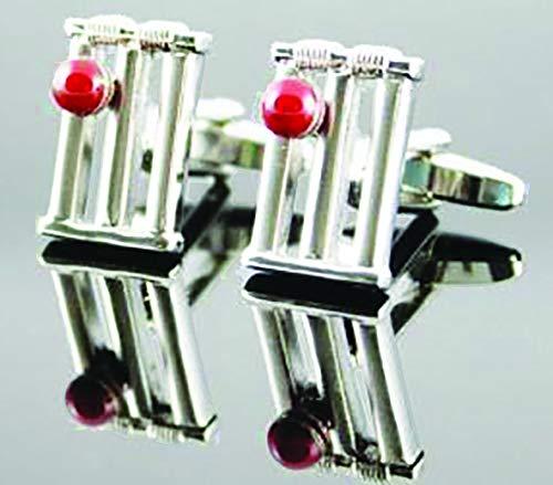 Element Gifts Manschettenknöpfe Cricket-Stumps, Silberfarben, Einheitsgröße