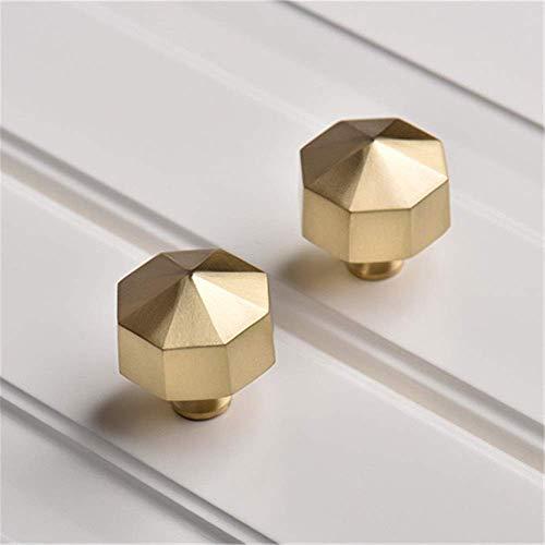 COLiJOL Manija de Metal Manijas Cónicas de Latón Izo Perillas para Gabinetes Armario Armario Manija de Cocina Golden Hardwear Paquete de 2 (Color: Golden, Tamaño: 33 * 32Mm),Dorado,33 * 32 Mm