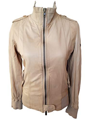 Timberland (A0510 234) - Giacca in pelle da donna, con zip intera, taglia S, colore: sabbia