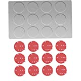 Angoter Magnetic Spice Jars Rack Stainless Steel Spice Jars Wall Plate Base Wall Mounted Base for Magnetic Spice Tins