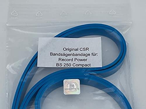 2x Belagband/Bandage/Gummis für Bandsäge Record Power BS 250 Compact, Rollenbelag, Bandsägenbelag, Band, Belag