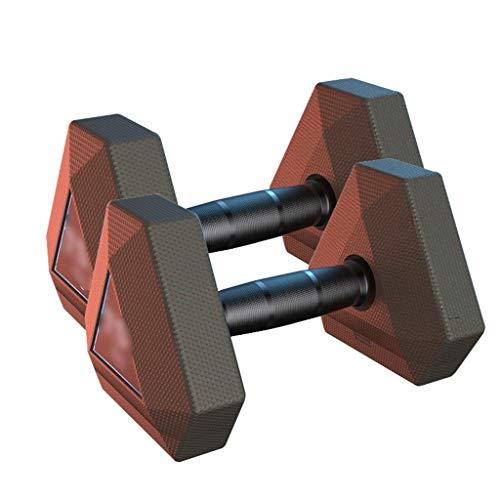 Mancuernas Pesas De Entrenamiento Equipo De Ejercicio Interior Hexagonal Doméstica De Fitness para Hombres 5 Kg 10 Kg (Color : Black, Size : 15kg*2)