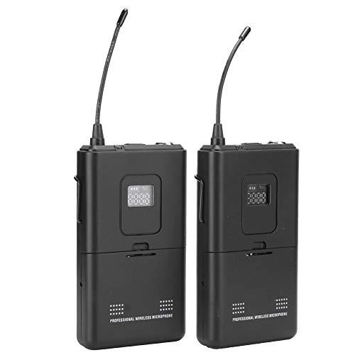 Yctze UHF Universal Lavalier Mikrofon stabil und Fernempfang U-Segment FM ID Code integrierte Decodierung Fernempfang