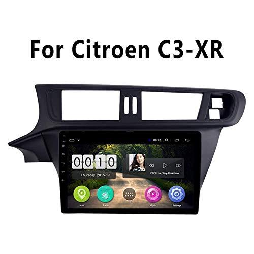 GPS Navigation Car Radio Estéreo Para Citroen C3-XR 2014 2018 Unidad Cabeza SAT NAV Video Receptor Pantalla Táctil Soporte Mirrorlink Carplay Bluetooth Wifi Multimedia Player,4 core 4g+wifi: 1+16gb