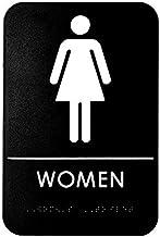 Women Female WC Toilet Plaque Metal Lavatory Restroom Washroom Door Sign