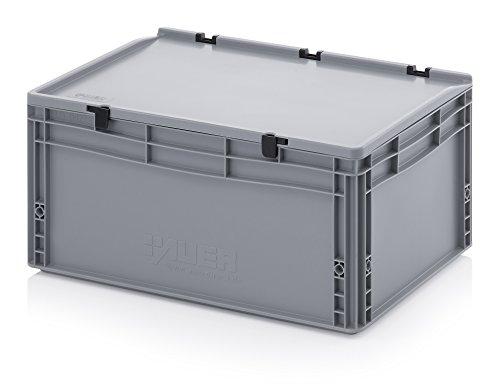 Eurobehälter-Eurobox 60 x 40 x 28,5 cm mit Scharnierdeckel inkl. gratis Zollstock