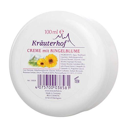 Kräuterhof® Creme mit Ringelblume Körper Creme Gesichtscreme Balsam Lotion, 100 ml