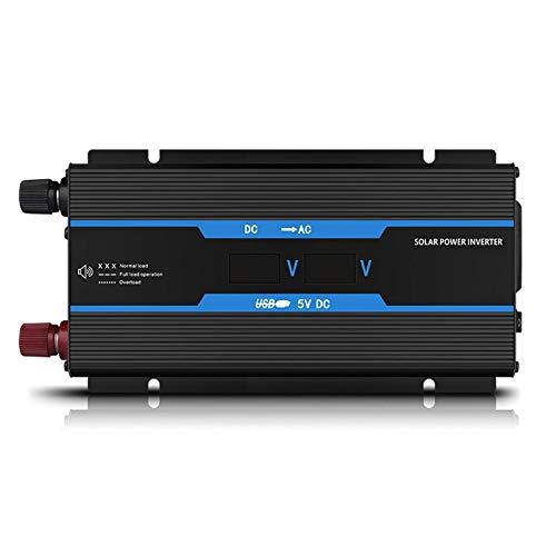 BAIHU Inversor De Corriente 500W DC 12V / 24V A AC 110V / 220V Convertidor De Automóvil Inversor con 1 USB 1 Enchufes Universales Adaptador para Encendedor De Cigarrillos Y Pinza De Cocodrilo