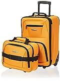 Rockland Fashion Softside Upright Luggage Set, Orange, 2-Piece (14/19)