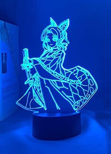 Lámpara 3D anime demon slayer cook kanae light para decoración de dormitorio niños cumpleaños g manga ko manga kanae lámpara Kimetsu No Yaiba