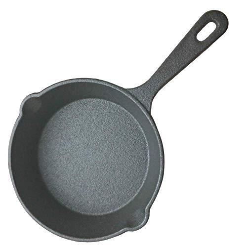 MLOZS Mini sartén para freír pre-sazonado 14 cm de Hierro Fundido Sartén Pan de freír con Mango de Silicona Gradrilla Antiadherente Parrilla de Cocina encargarse de (Color : -, Size : -)