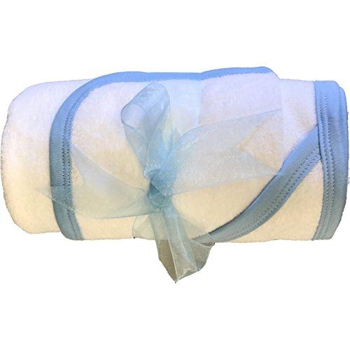 Serviette à capuche et gant Bain bébé Bundle – Bleu
