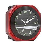 Reloj de manillar para moto, reloj de manillar impermeable de aleación de aluminio, reloj de moto de alto rendimiento universal para la mayoría de manillares de moto Motorcy