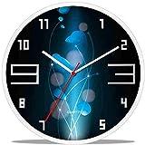 CHLDDHC Reloj De Cuarzo Negro Extremadamente Silencioso