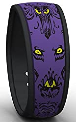Disney Haunted Mansion MagicBand Purple and Black Wallpaper