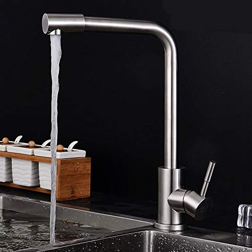 Kitchen Mixer Sink Tap Kitchen Faucet Basin 304 stainless steel hot and cold rotating kitchen sink faucet sink faucet with US Standard Fittings