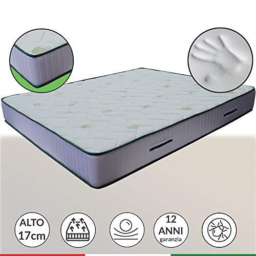 Materasso anatomico LISA H17cm, con accogliente memory Foam e poliuretano, piazza e mezza 130x190 cm