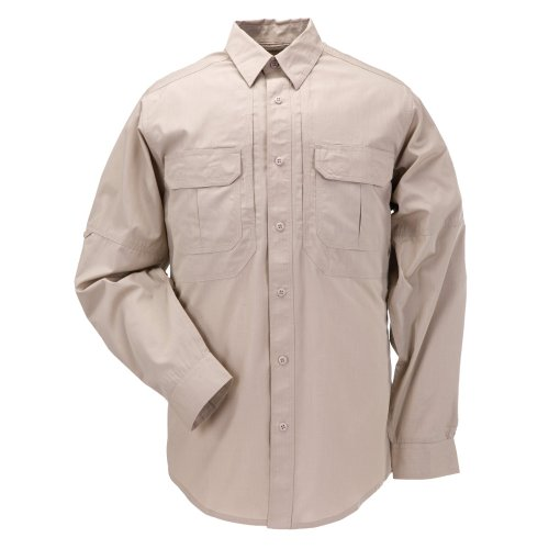 5.11 Tactical TacLite Professional Long Sleeve Tall EDC Shirt TDU Khaki 5X-Large #72175T